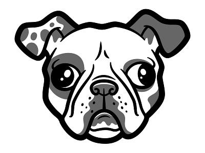 French Bulldog frenchie bulldog dogs vector illustration