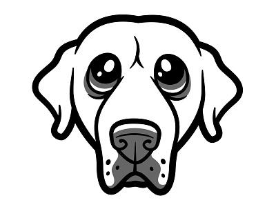 Yellow Lab yellow lab dogs vector illustration