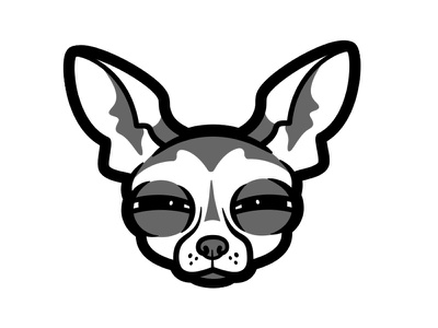 Chihuahua chihuahua dogs vector illustration