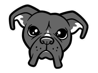 Boxer boxer dogs vector illustration