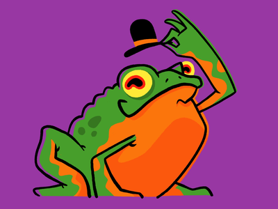 Toad drawlloween procreate illustration halloween frog toad