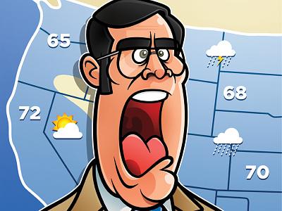 Brick Tamland: Weather illustration cartooning brick tamland anchorman steve carell