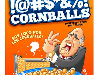 George Bluth's !@#$%&! Cornballs arrested development george bluth tv cartoons illustration