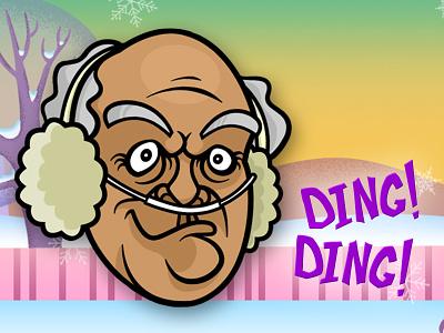 Hector Dribbble breaking bad hector salamanca cartoon christmas xmas illustration