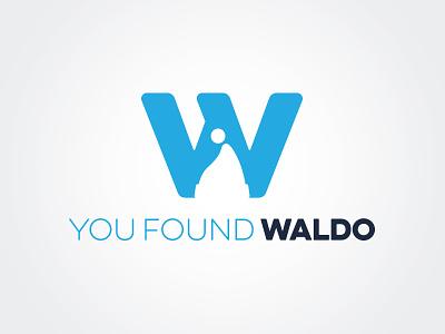 You Found Waldo clever negative space logo design logo