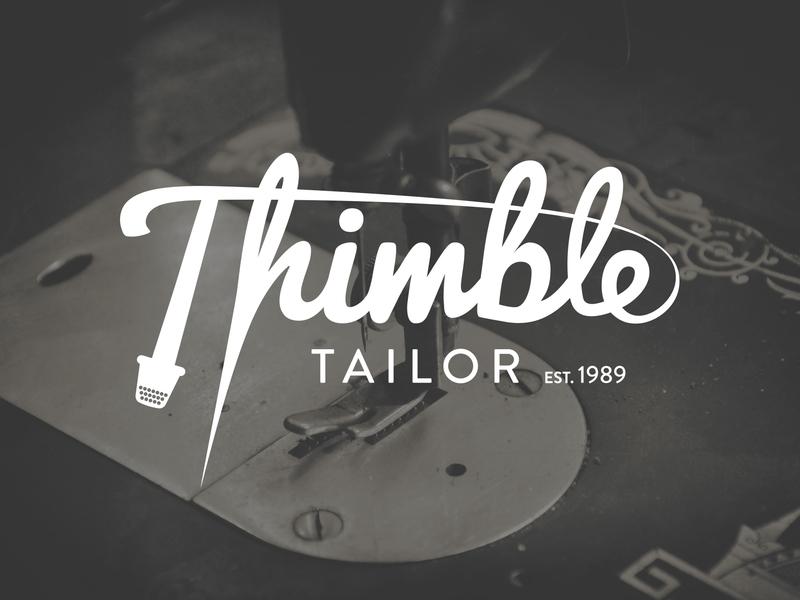 Thimble Tailor branding logo design logo