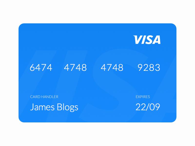 Card visa ui payment credit card