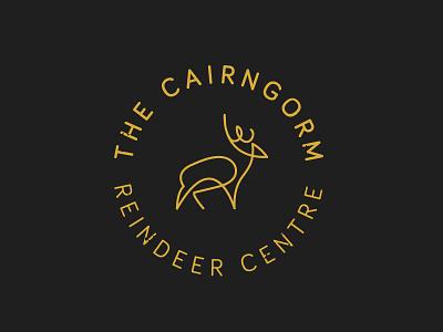 Reindeer illustration lines brand badge logo