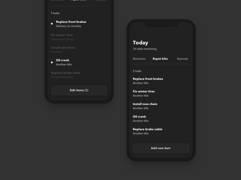 To do simplistic minimal iphone x todo list