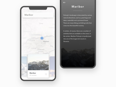 Mountain guide cards iphone x mobile ios
