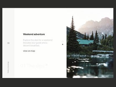 Explore menu animations outdoors