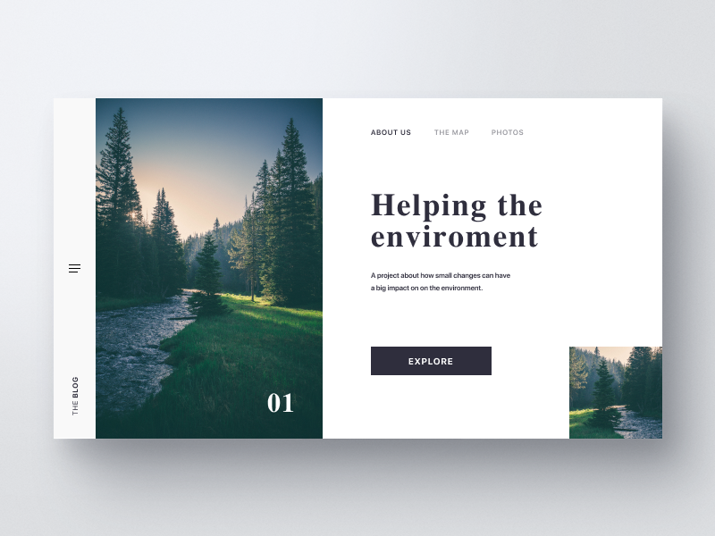 Environment ux ui typography trees environments outdoors