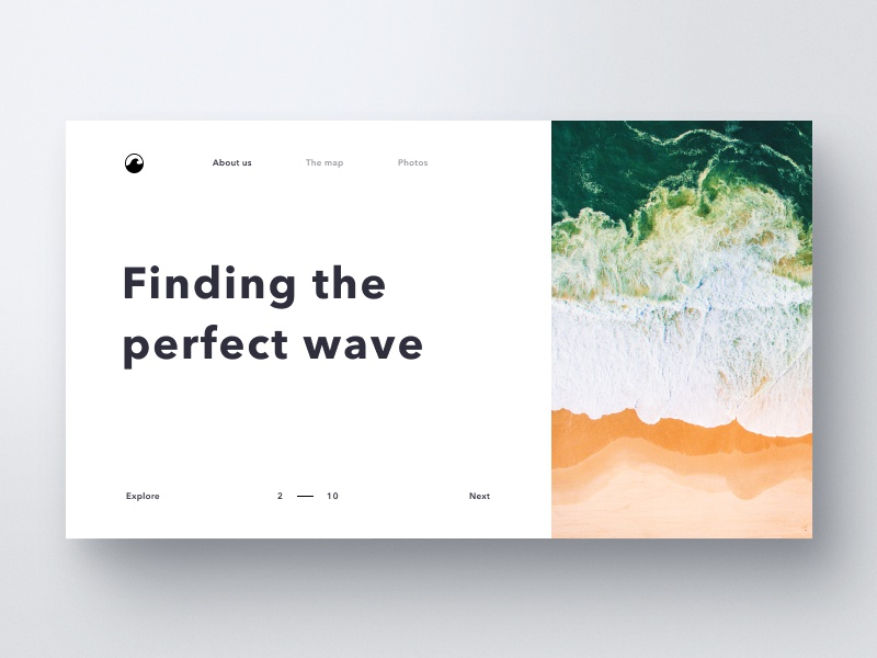 Wave typography layout surf