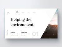 Environment 🍃 typography web layout environment