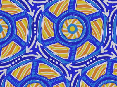 Sit-n-Spin wip orange yellow blue pattern toy 70s sit-n-spin
