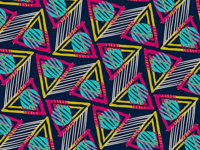 80s Sunset Triangle geometric geometry yellow pink illustration pattern 80s digital drawing