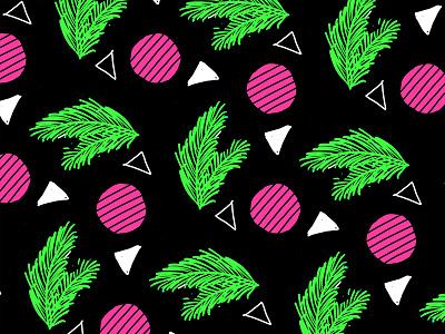 80s Palm Leaf & Radish Geometric Pattern repeat pattern geometric organic 1980s 80s pattern