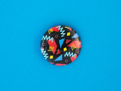02/100 - 80's Squiggle Dance the100dayproject pins buttons squiggles eighties 80s