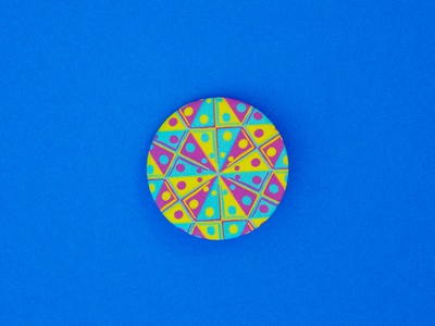 04/100 - 80s Space Cheese the100dayproject pins buttons spacecheese eighties 80s