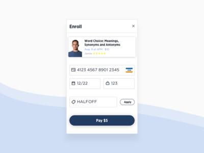 Quesbook E-Class Payment web design ui design product design hello dribbble hellodribbble form ecommerce checkout