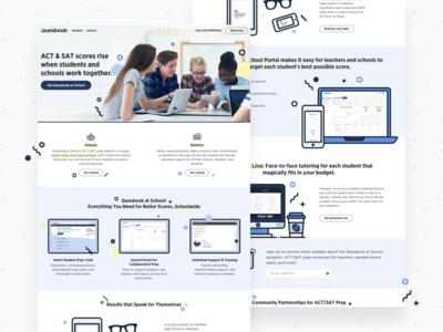 Quesbook Schools Landing Page edtech education landing page ui design product design