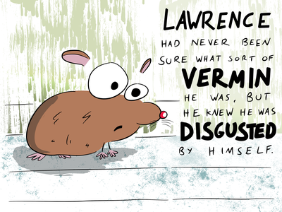 Vermin animal cartoon vector illustration