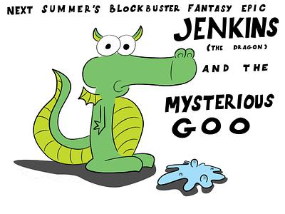 Jenkins characters animal cartoon vector illustration