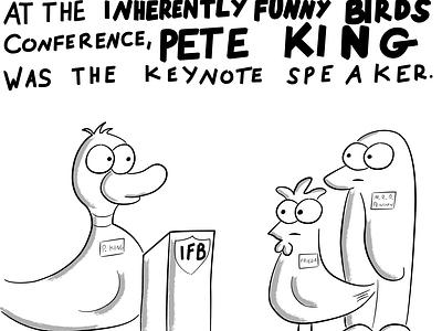Pete King Duck characters animal cartoon vector illustration