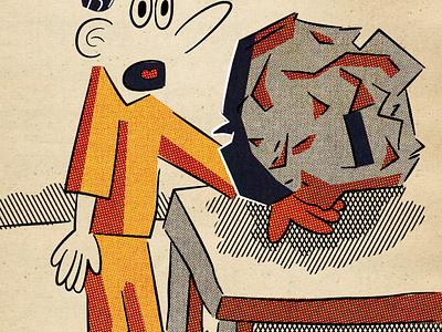 Boulder characters cartoon vector illustration