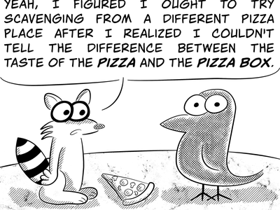Pizza characters animal cartoon vector illustration