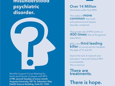BPD Awareness Flyer design vector illustration flyer mental illness