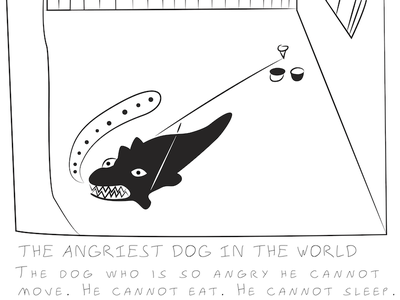 The Angriest Dog In The World comic strip illustration