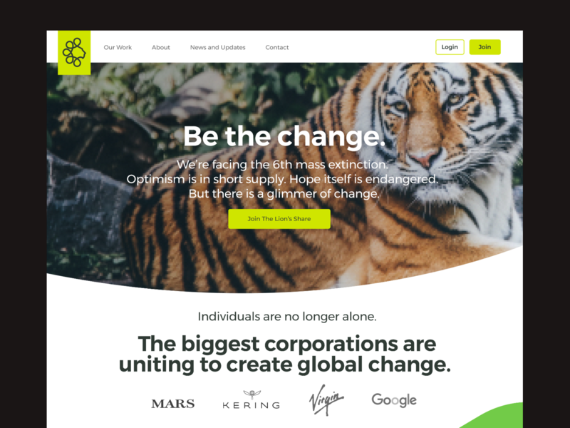 UNDP – Lion's Share concept platform website conservation