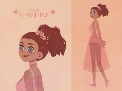 sunshine painting character illustration
