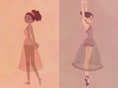 GIRLS painting vector classical character illustration