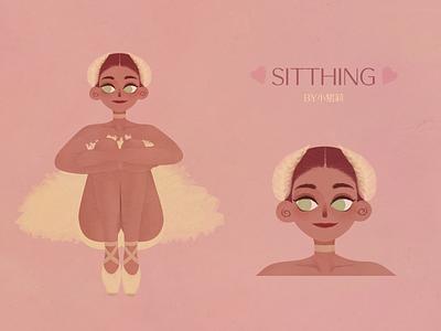 sitting_girl illustration character