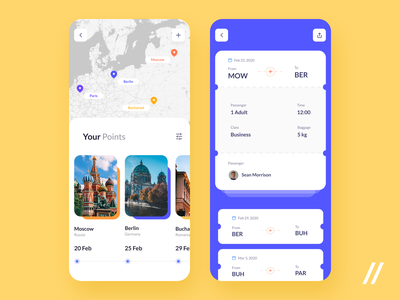 Flight Booking App flight tickets booking plane travel airplane airport purrweb mobile app ux ui