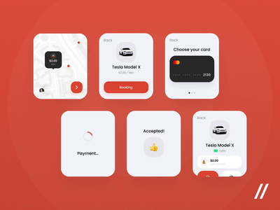 Carsharing Apple Watch App mobile map card payment tesla carsharing apple apple watch product purrweb app figma design ux ui