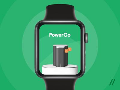 Apple Watch Power Bank Rental App economy powerbank rental map location apple watch apple mobile product purrweb app figma design ux ui