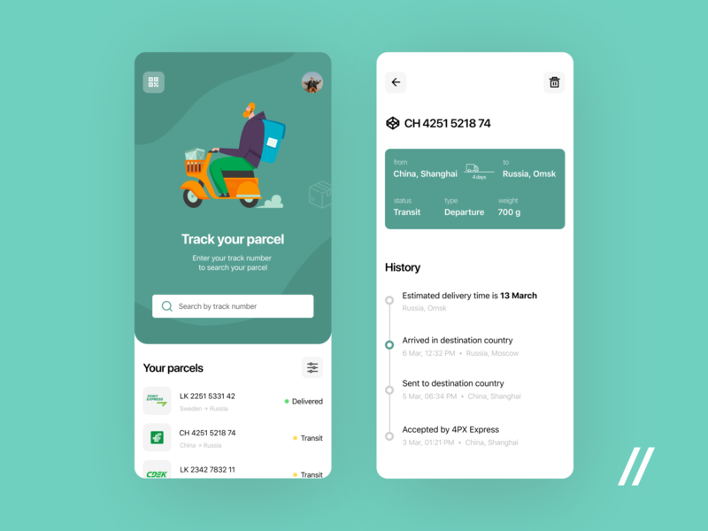 Parcel Tracking App