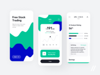 Stock Trading App market apple analytics rating earings investment stock trading concept product mobile purrweb app figma design ux ui