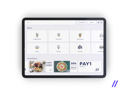 Point of Sale Tablet App figma kiosk food  drink discount shop coffee cashier pos point of sale tablet app design ux ui