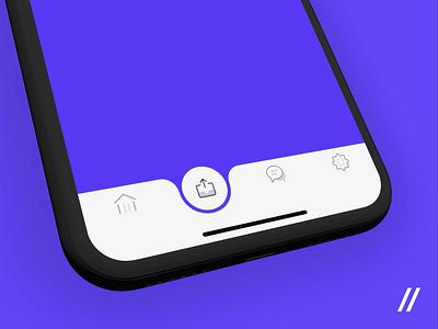 Banking App Tab Bar Navigation Concept purrweb figma motion animation bubble motion navigation tab bar banking app concept icon design animation ios app mobile ux ui