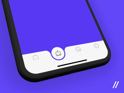 Banking App Tab Bar Navigation Concept purrweb figma motion animation bubble motion navigation tab bar banking app concept icon design animation ios app mobile ux ui