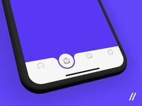 Banking App Tab Bar Navigation Concept