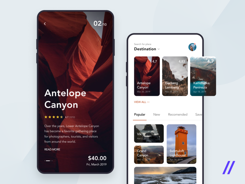 Travel Guide App Concept purrweb figma adventure planner trip sightseeing tour guide travel concept app design ux ui mobile