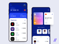 Banking app shot