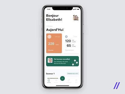 Healthcare App for Patients product temperature wireless wearable device patients doctors treatment healthcare health animation purrweb ios app mobile design ui ux figma
