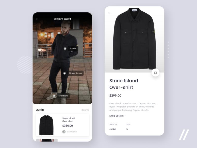 Clothes Recognition App freebie free fan blogger blog instagram recognition scanner clothes product minimal purrweb mobile app design ui ux figma
