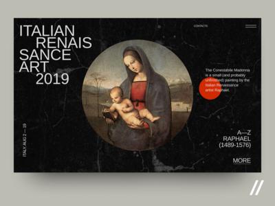 Italian Renaissance art 2019 Web Interface